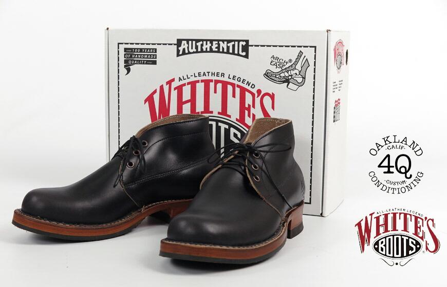 WHITE'S BOOTS ホワイツブーツ 4Q CONDITIONING チャッカブーツ HORWEEN CHROMEXCEL BLACK ホーウィンクロムエクセルレザー ブラック
