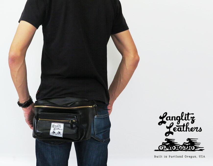 ラングリッツ・レザーズ Langlitz Leathers パッデッド アウトサイド ポケット ウエスト バッグ Padded Outside Pocket Waist Bag