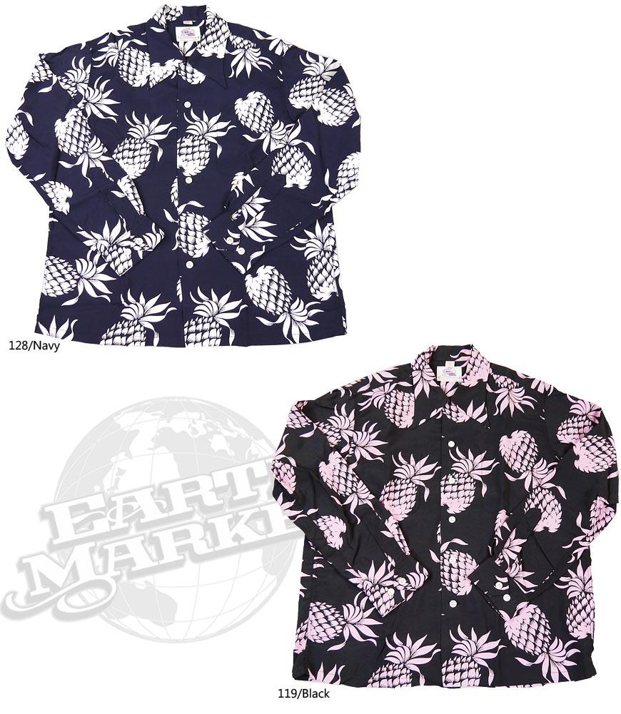 Duke Kahanamoku 長袖ハワイアンシャツ Special Edition DUKE'S PINEAPPLE DK26793