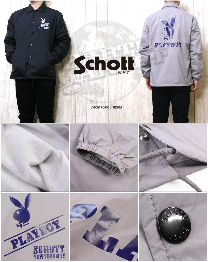 Schott コーチ ジャケット ナイロン 「PLAY BOY」 3152005