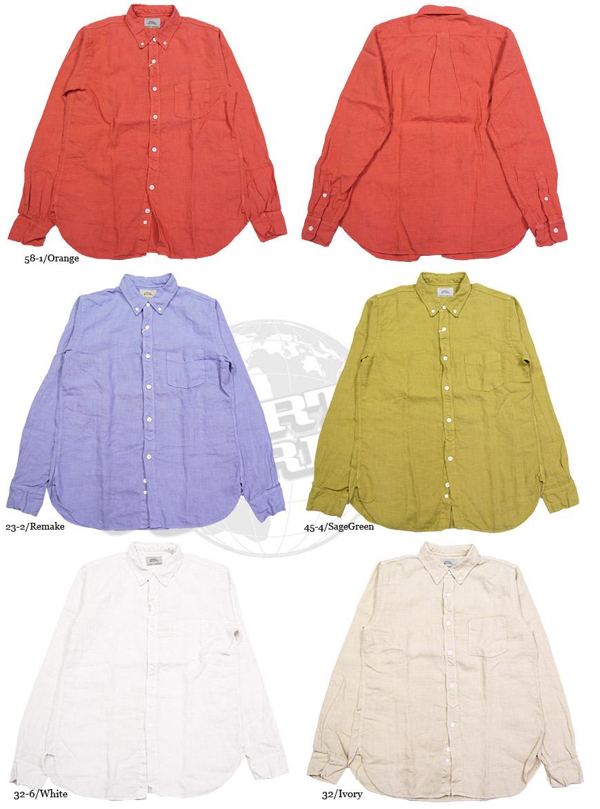 スペルバウンド リネン ボタンダウンシャツ 46-089X