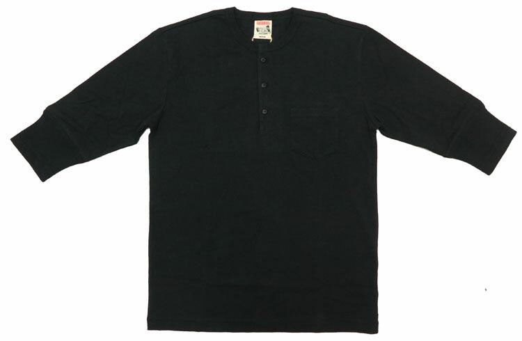 GLAD HAND パックシリーズ スタンダード 5分袖ヘンリーネック ポケットTシャツ