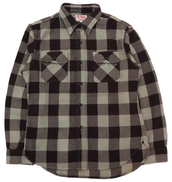デラックスウェア DELUXEWARE ヘビーフランネル シャツ 長袖 50s バッファロー チェック HV-00