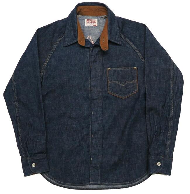 デラックスウェア DELUXEWARE ロゴ刺繍 10.5oz デニム 長袖 シャツ 7647