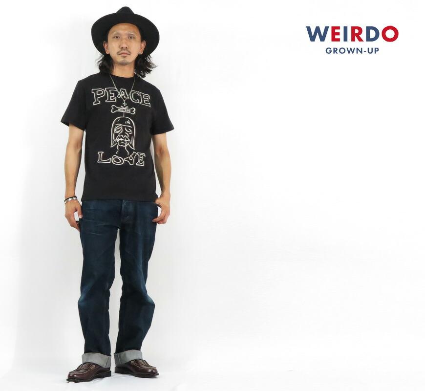 WEIRDO ウィアード 半袖 クルーネック ポケット Tシャツ SHRUNKEN HEAD GLAD HAND グラッドハンド