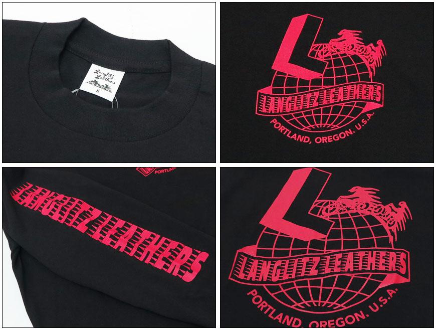 Langlitz Leathers 長袖 Tシャツ ロゴ プリント LL-LS-274