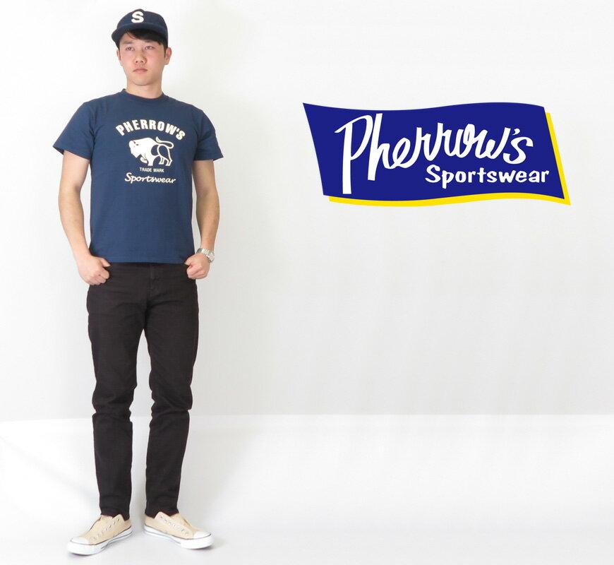 フェローズ Pherrow's 半袖Tシャツ プリント 「Buffalo」 PT2