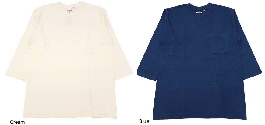 DUBBLE WORKS 7分袖ヘンリーネック Tシャツ 53003-00