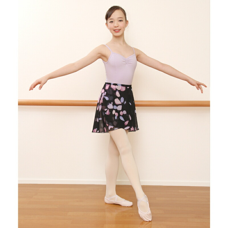 1d03b81ef According to the movement in supple dance spread! This is for adult chiffon  wrap skirt petal pattern.