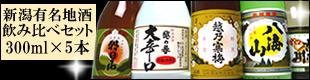 新潟・有名日本酒ミニ飲み比べセット