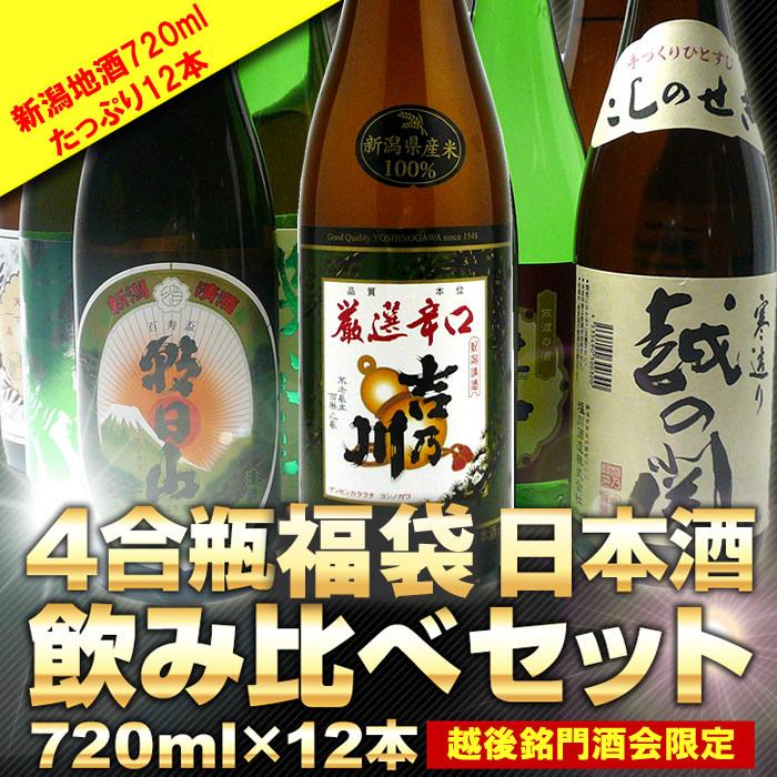 日本酒四合瓶福袋 720ml12本