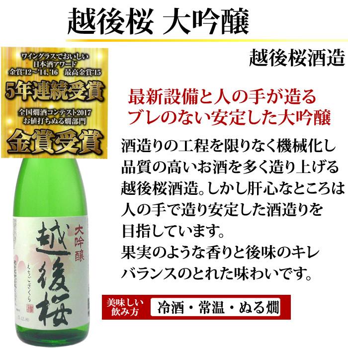 日本酒 大吟醸 越後桜