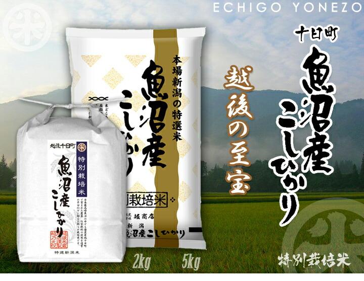 [特別栽培米] 魚沼産コシヒカリ