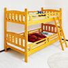 2段ベッド 二段ベッド シングル 木製 パイン 天然木 ベッド はしご付き モダン カントリー調 無垢 子供部屋 ベット 高さ160cm ライトブラウン シングルベッド 分割 セパレート 楽天 通販