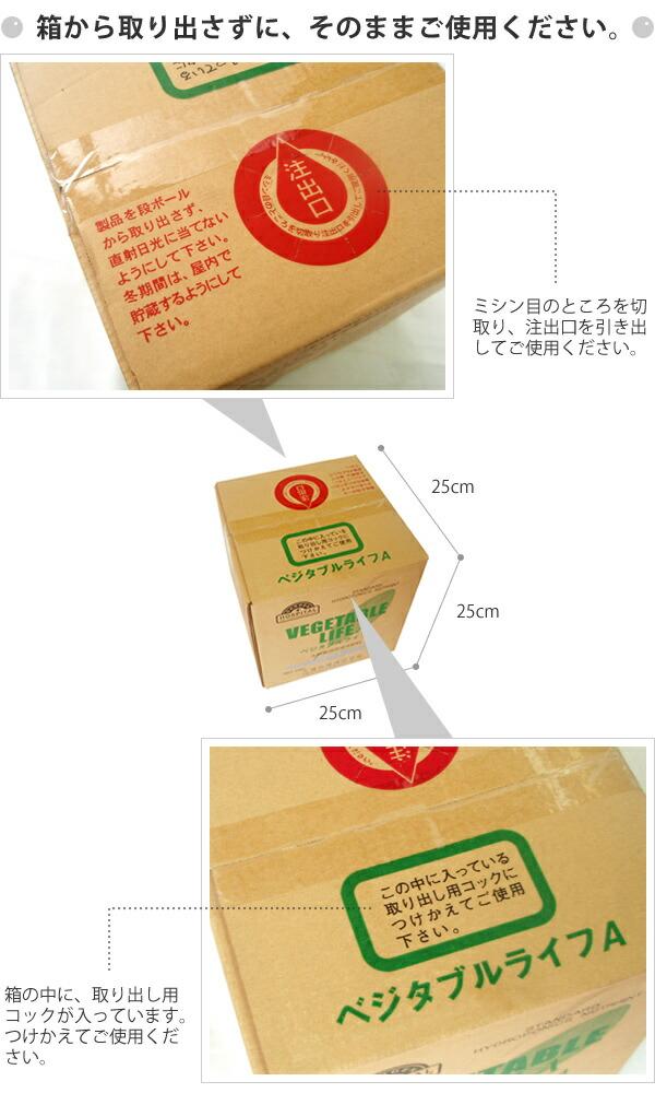 箱から取り出さずにそのままご使用ください