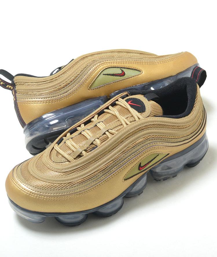 check out 36091 c4ece NIKE AIR VAPORMAX 97 Nike air vapor max 97 metallic gold men sneakers  aj7291-002