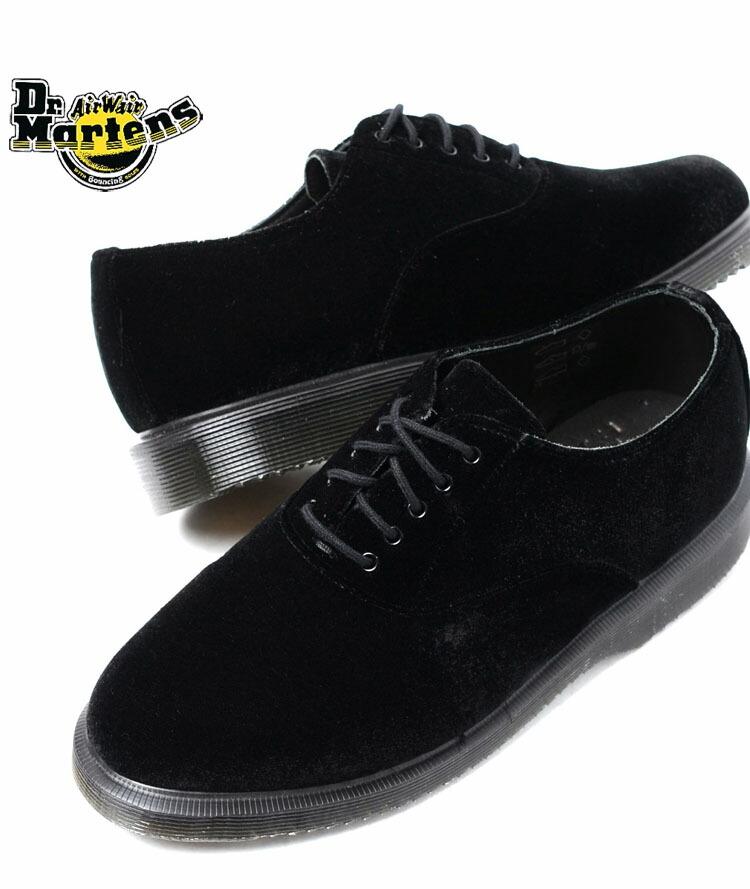 0111440a1608f Dr.Martens BRIAR LACE SHOE BLACK VELVET doctor Martin Bligh-ya race shoes  black velvet