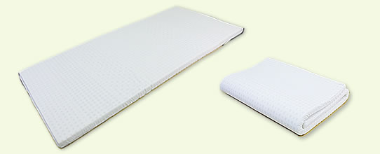 Folding is simple! !I was particular about quality [latex 7ZONE single mattress]