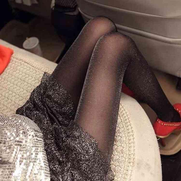 脚をキラキラ見せる シャイニー ストッキング パンスト ラメパンスト レディース ラメ ストッキング タイツ ストッキング レディース パーティー 結婚式 lame stocking