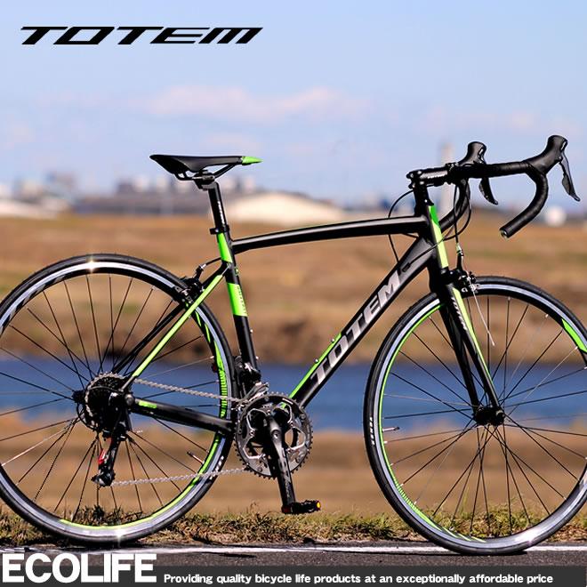ロードバイク 自転車 アルミ 軽量 700C TOTEM シマノ18段変速 SORA シマノF/Rディレーラー STI デュアルコントロールレバー