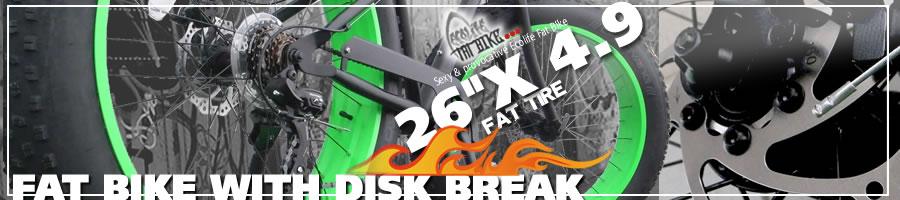 ファットバイク ビーチクルーザー 自転車 26インチ FAT BIKE ファットタイヤ