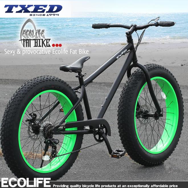 ビーチクルーザー 26×4.9インチ  自転車 マットブラック ビーチクルーザー 自転車