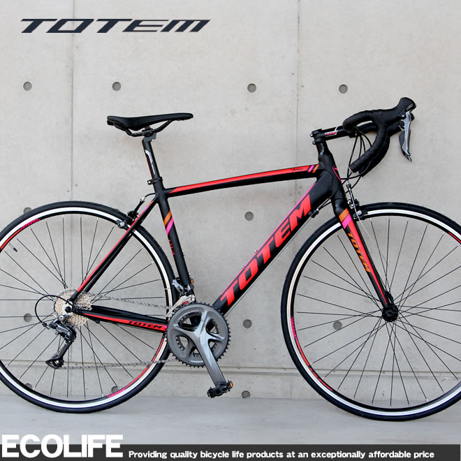 ロードバイク 700C アルミフレーム TOTEM シマノ16段変速 クラリス シマノ STI デュアルコントロールレバー