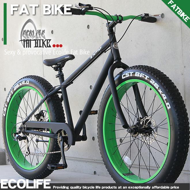 ファットバイク ビーチクルーザー FATBIKE 自転車 26インチ シマノ7段変速 自転車 TXED FATBIKE