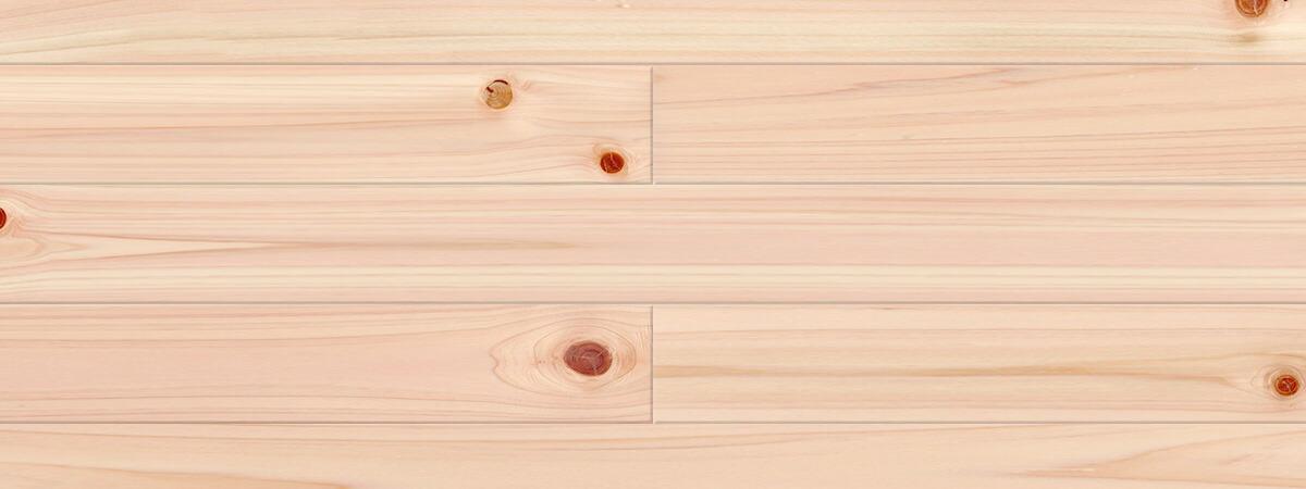 ヒノキ / 桧(奈良県吉野桧) 一枚もの 無垢フローリング【普及品(紅白)】無塗装 15×110×2000mm