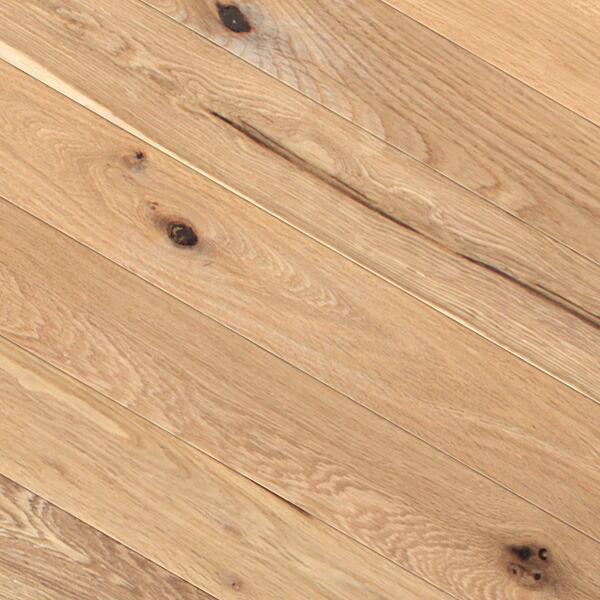 床暖房対応オーク(ナラ / 楢) 一枚もの 複合フローリング【ラスティック】オイル仕上げ(透明つや消し) 12×120×909mm