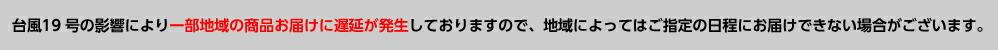 台風19号遅延のお知らせ