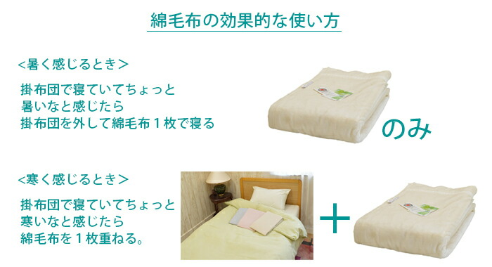綿毛布の効果的な使い方