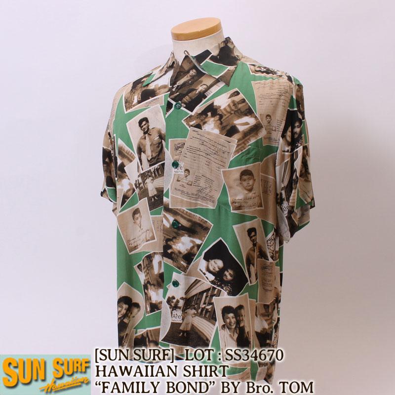サンサーフ・SUN SURF・アロハシャツ・FAMILY BOND,ブラザートム,ハワイアンシャツ[SS34670]