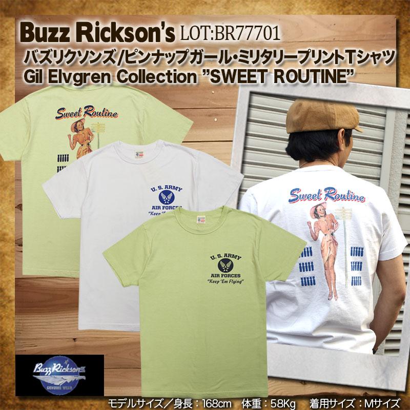 BuzzRickson's,バズリクソンズ,ミリタリー,Tシャツ,ピンナップガール,br77701