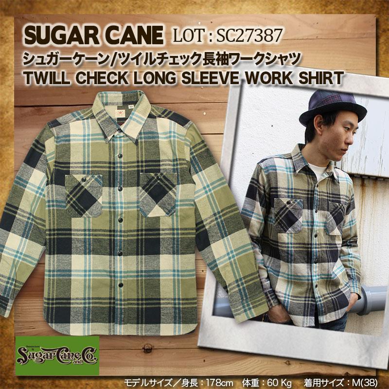SUGARCANE,シュガーケーン,ツイルチェックワークシャツ,SC27387
