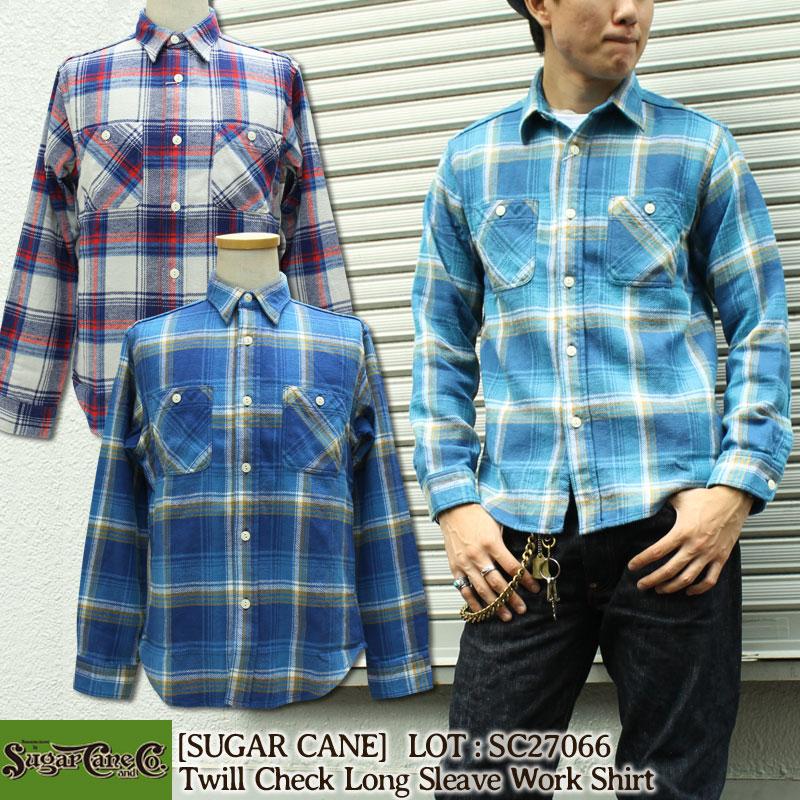 SUGARCANE,シュガーケーン,ツイルチェックワークシャツ,SC27066