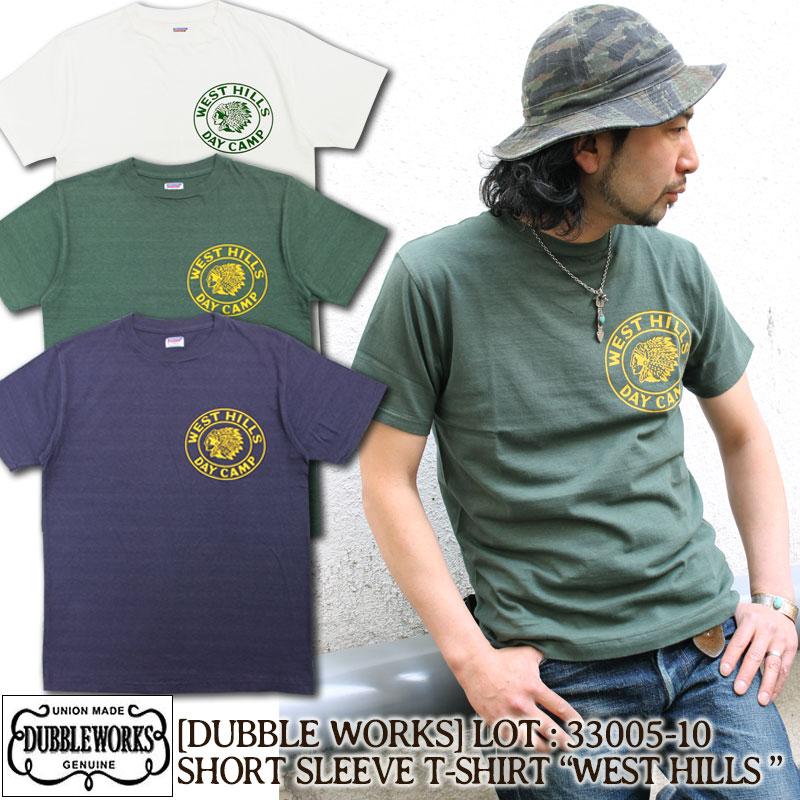 ダブルワークス,コットン,綿,Tシャツ,33005-10