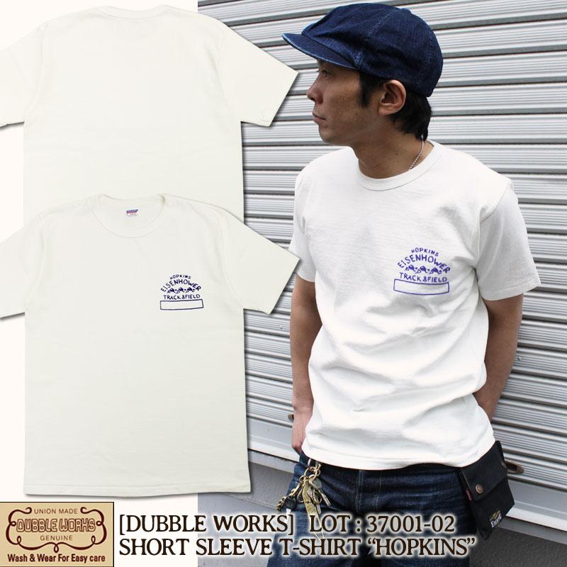 DUBBLEWORKS,ダブルワークス,コットン,綿,Tシャツ,37001-02-HOPKINS