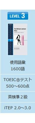 レベル3:TOEICテスト400点以上/英検準2級以上
