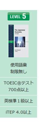 レベル5:TOEICテスト470点以上/英検2級以上
