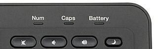 電池残量表示ランプで充電時期がわかりやすい