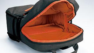 一気室バッグへ切替えられる二気室貫通構造