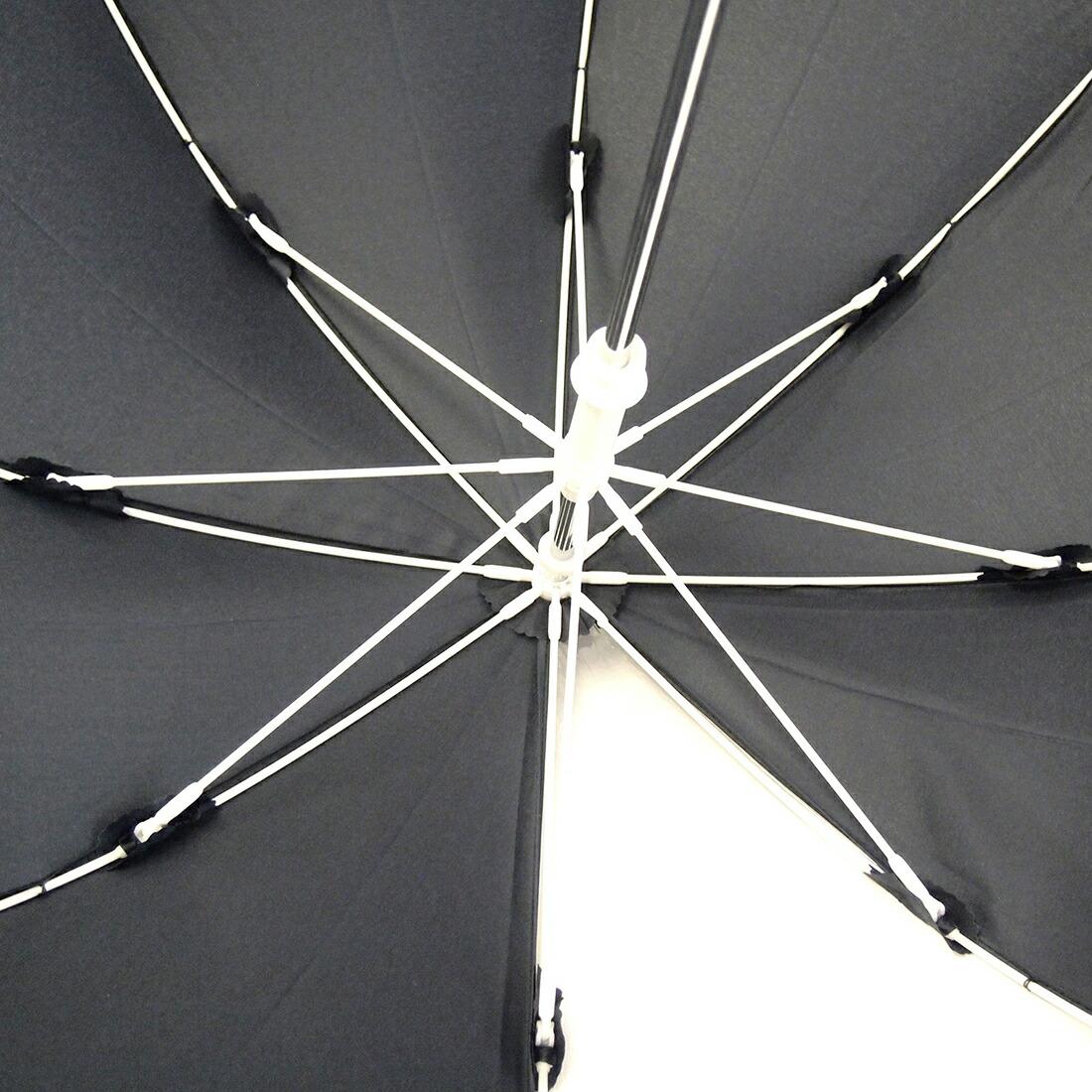 1コマ透明安全手開き 濃紺の子供傘 45cm・50cm・55cm☆無地・ネイビー・イエロー