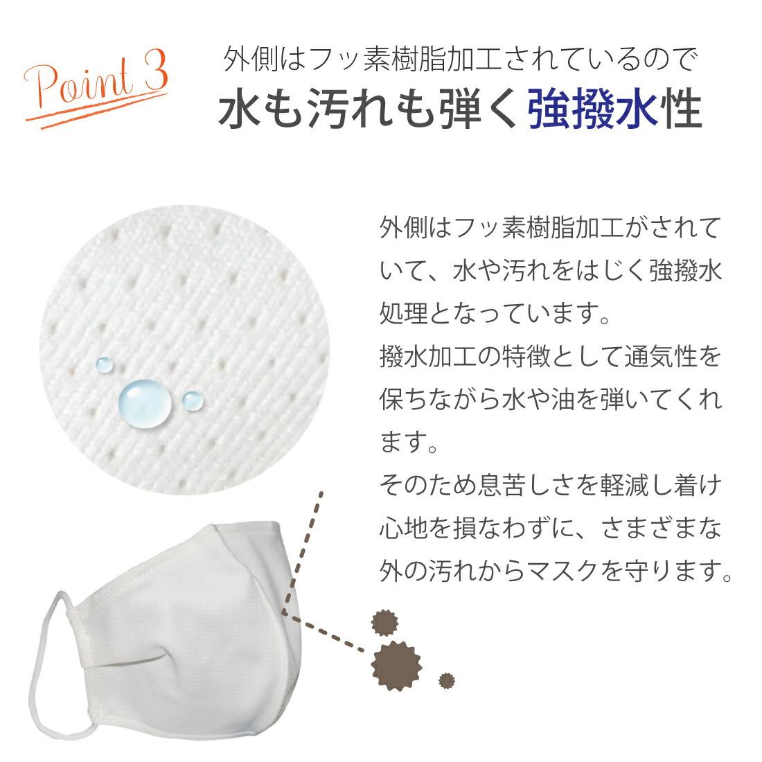 サスティナブルマスク 息苦しくないフッ素樹脂加工 MONGRE MASK (モングレ マスク 2枚入り 洗えるマスク 冷感