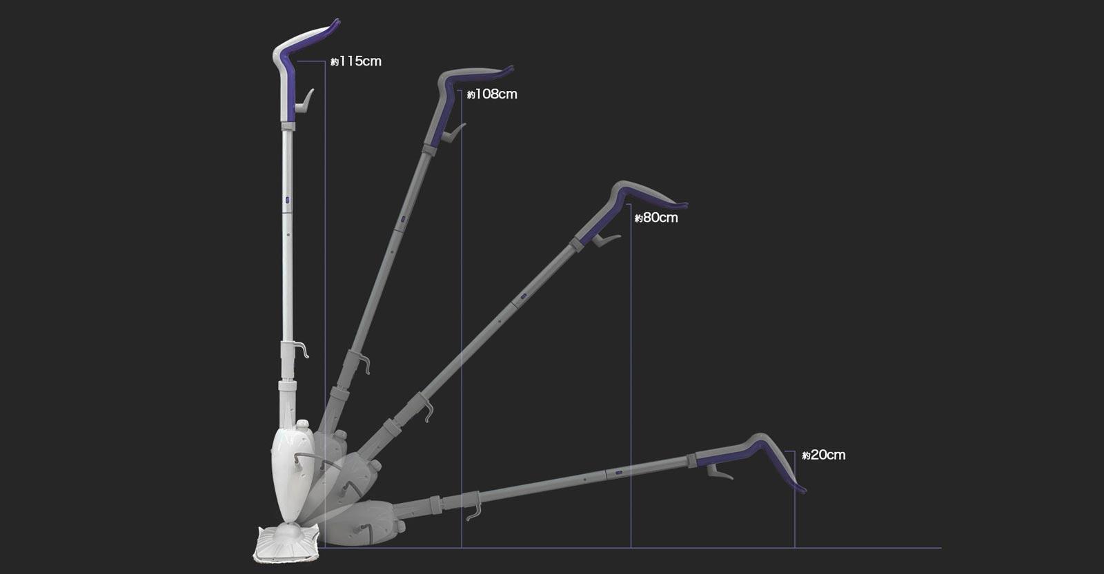 角度を変えても扱いやすい、人間工学に基づいた設計