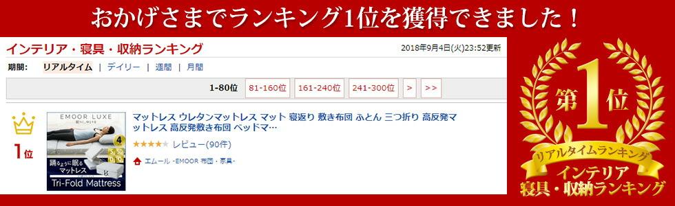 インテリア・寝具・収納ランキング1位受賞