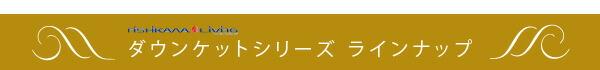 西川リビングダウンケットシリーズ:ラインナップ