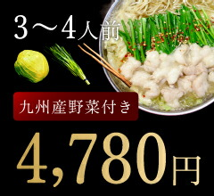 3〜4人前野菜付き
