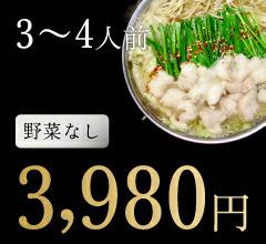 3〜4人前野菜なし