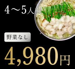 4〜5人前野菜なし